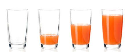 Set of glasses juice Stockfoto