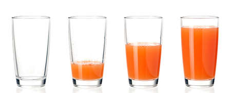 Set of glasses juice Imagens