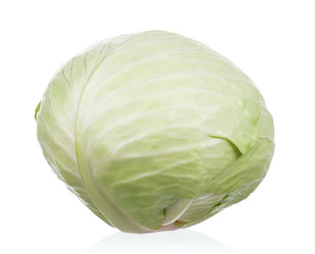 green vegetable: Fresh green cabbage vegetable on white background