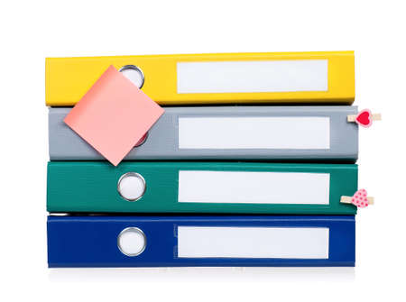 file folders: Colorful file folders, isolated on white background