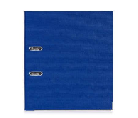 file box: Big blue folder for document, isolated on white background Stock Photo