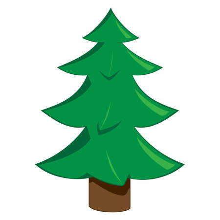 Illustration of a christmas tree on a white background