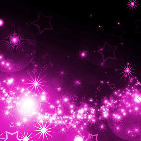 abstract background with glowing stars photo