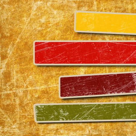 Arrière-plan avec des cases colorées pour le texte Banque d'images - 12691403
