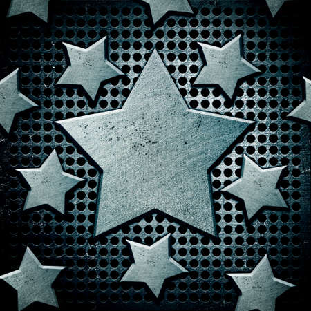 background with steel stars photo