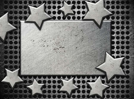 background with steel stars Stock Photo - 12691268