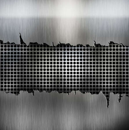 crack metal background template Stock Photo - 12691251