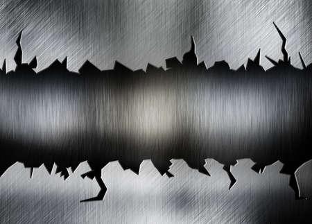 rend: cracked metal background