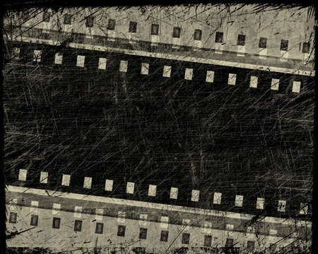 grunge film stripe with place for text photo