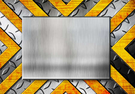 grunge metal template with orange elements Stock Photo - 12691461