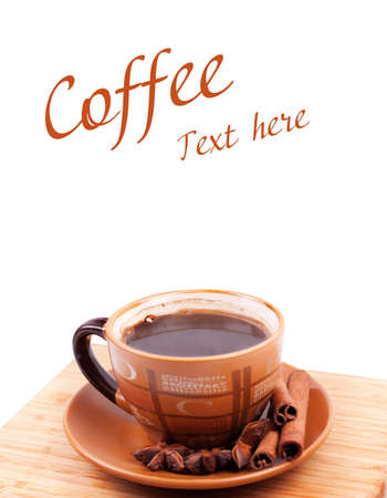 capuchino: Cup of coffee isolated