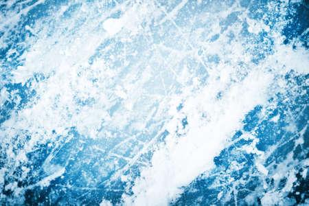 hokej na lodzie: lodu tekstury lodu na zewnÄ…trz lodowisko ze Å›niegiem