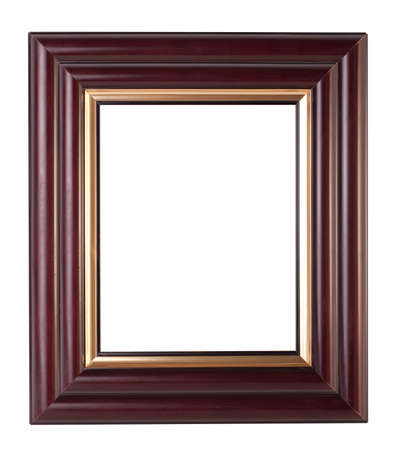 old antique frame over white background photo