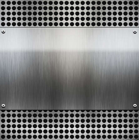 metal template background Stock Photo - 12689420