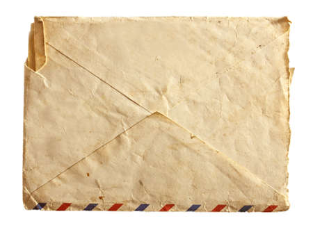 post scripts: old air envelope isolated on a white background