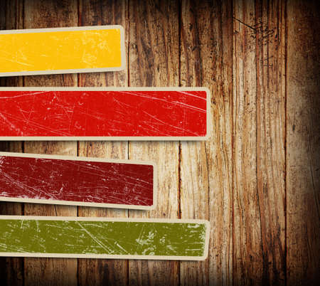 texture twisted: background with colorful boxes for text on wood background