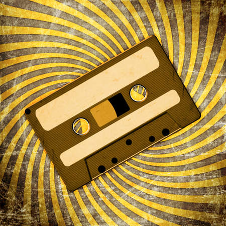 Retro Audio Cassette Tape on grunge photo