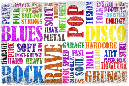Rock Music poster on grunge Stock Photo - 12691368