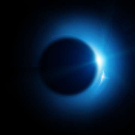 solar eclipse in space Stock Photo - 12689058