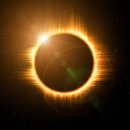 protuberances: solar eclipse in space