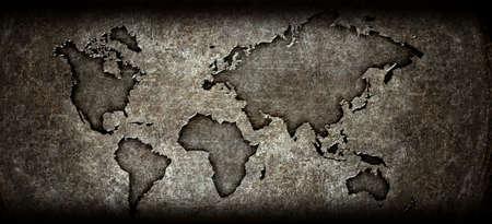 worldmap: worldmap on a steel background