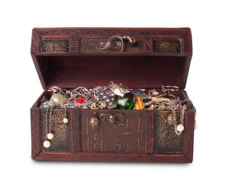 ruby gemstone: Treasure chest  Stock Photo