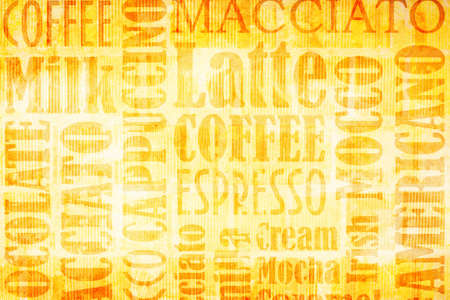 textcloud: old coffee background on grunge