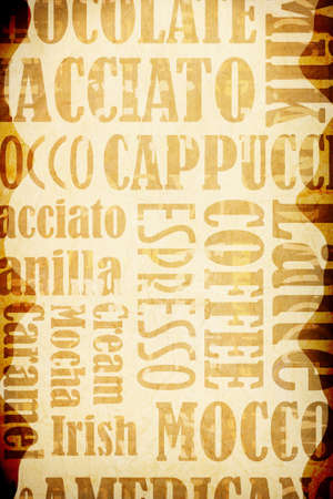 coffe: old coffee background