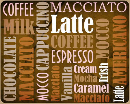 hot announcement: sorts of coffee background