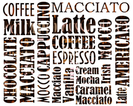 sorts of coffee background Stock Photo - 12693092