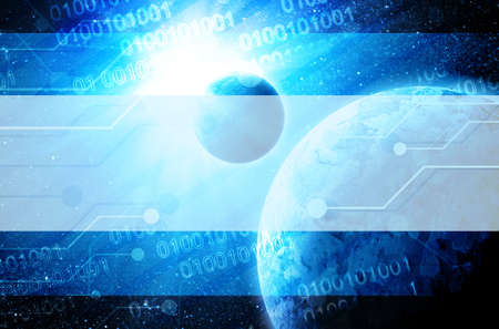 earth in space with technology elements Stock Photo - 12693575