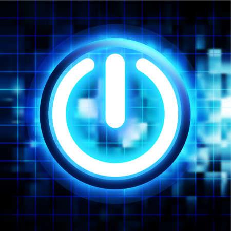 power failure: glowing power button