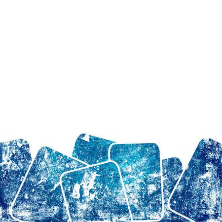 grunge blue squares against white background Stock Photo - 12693879