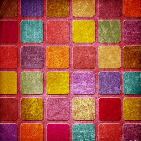 grunge colourful squares photo