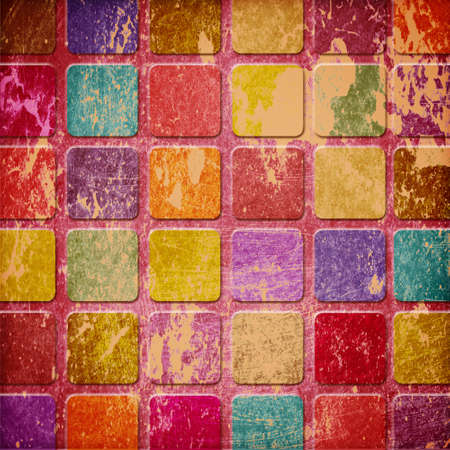 grunge colourful squares Stock Photo - 12696372