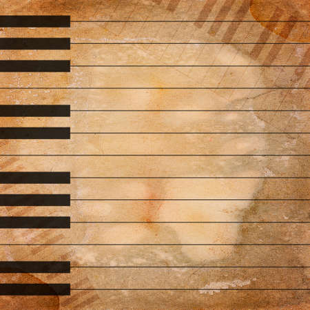 grunge musical background Stock Photo - 12697125