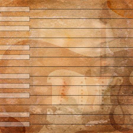old sheet music: grunge musical background Stock Photo