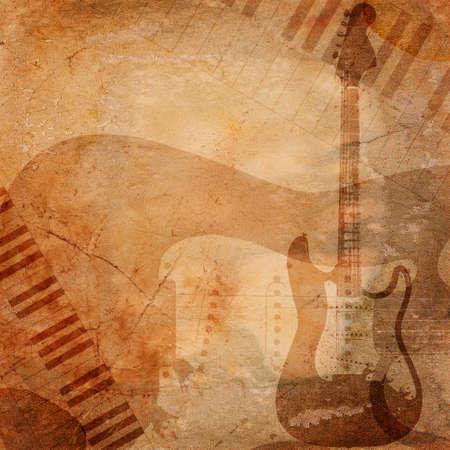 grunge musical background photo