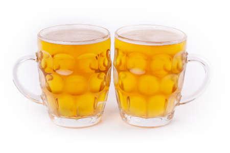 Beer mug isolated on white background photo