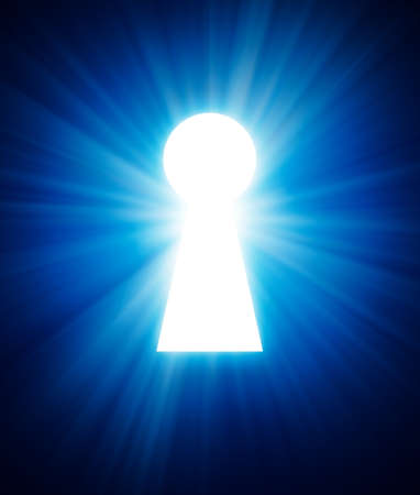 key hole on a dark background Stock Photo - 12692225