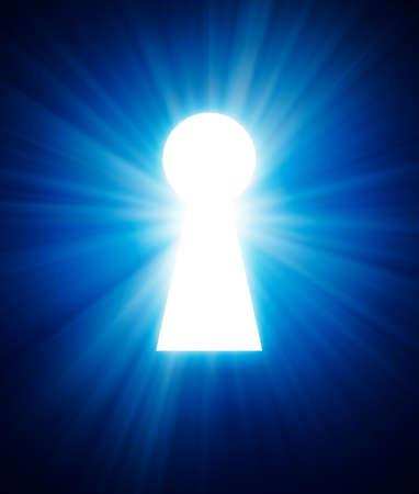 Schlüsselloch auf einem dunklen Hintergrund