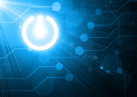 power button on digital background photo