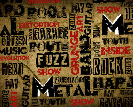 Rock Music poster on grunge photo