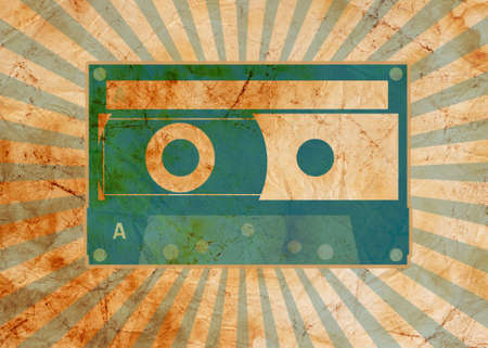 vintage background with old tape photo