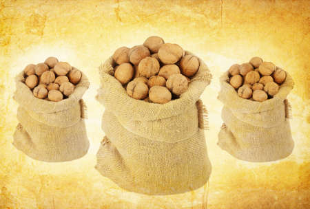 vintage walnut background photo