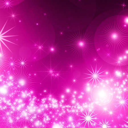 company party: abstract background with glowing stars