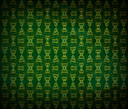 Seamless wallpaper pattern, green photo
