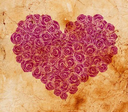 floral heart shape photo
