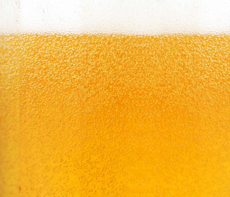 beer pint: Close up of beer bubbles
