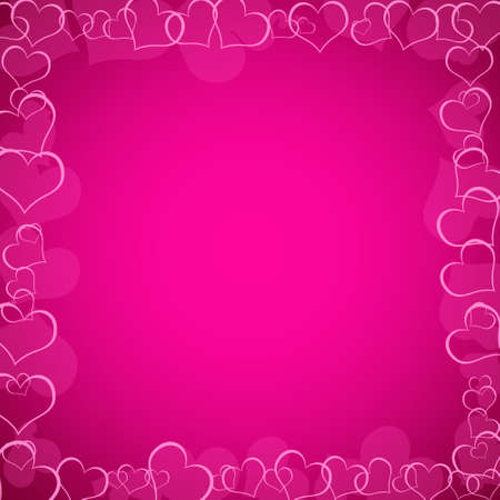 wedding backdrop: pink valentines background with hearts